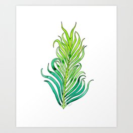 Tropical Palm Leaves - Nature Art Print