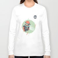 holographic Long Sleeve T-shirts featuring Future is Hollow Graphics by RJ Artworks