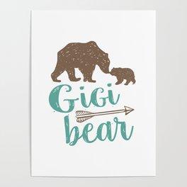 Gigi Bear Great Grandma Gift Poster