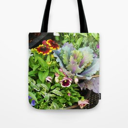 Potted Fall Flowers Tote Bag