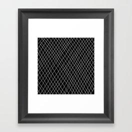 Fishnet Night Framed Art Print