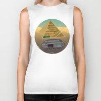 egypt Biker Tanks featuring Egypt by Xènia Castellví