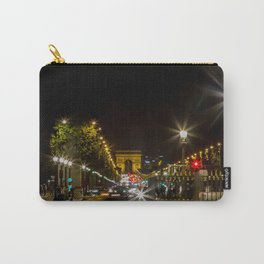Arc de Triomphe and Champs Elysees Carry-All Pouch