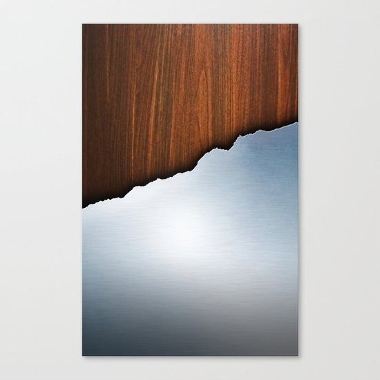 Wooden Brushed Metal Canvas Print