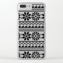 Pattern in Grandma Style #22 Clear iPhone Case