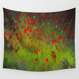 SPACE POPPIES Wall Tapestry