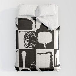 Pop Music Art B&W Comforters