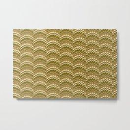 Marbling Comb - Brown Metal Print