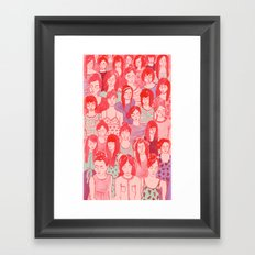 Girl Crowd Framed Art Print
