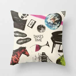 Jim Guthrie Takes Time 80s Design Throw Pillow