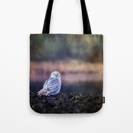 Snowy Owl squared Tote Bag