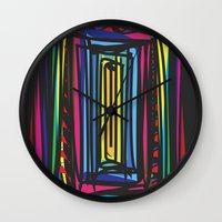 frames Wall Clocks featuring Frames by Niko Psitos