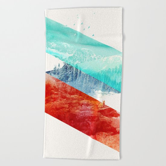 Mountain Stripes Beach Towel
