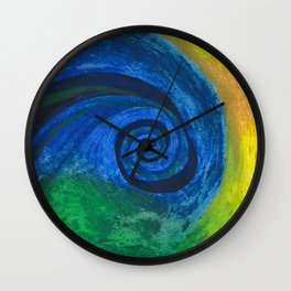 Abstract Poetic Wall Clock
