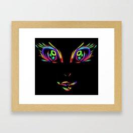 Neonified (black) Framed Art Print