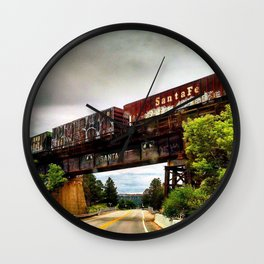 Graffiti Train Wall Clock