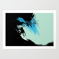 surfing Art Prints featuring Surfing by CSNSArt