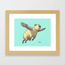 Flying Capybara Framed Art Print