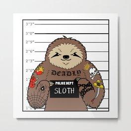 Prison Sloth Metal Print