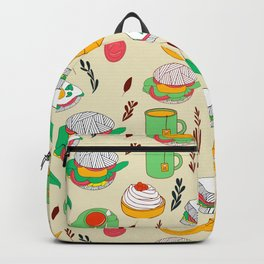 Breakfast & Lunch Food Collage Backpack