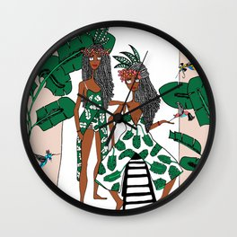 Urban bush babes Wall Clock
