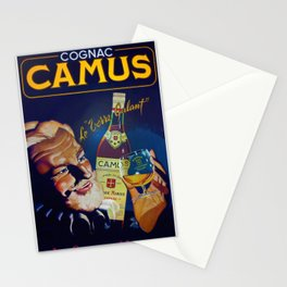 Vintage French Cognac Camus La Grand Marque Alcoholic Beverage Advertising Poster Stationery Cards