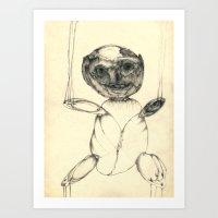 teddy bear Art Prints featuring Teddy bear by Attila Hegedus