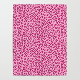 Leopard - Lilac and Pink Poster