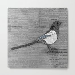 Bad News Bird Metal Print