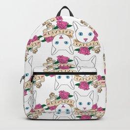 Catlady Print Backpack