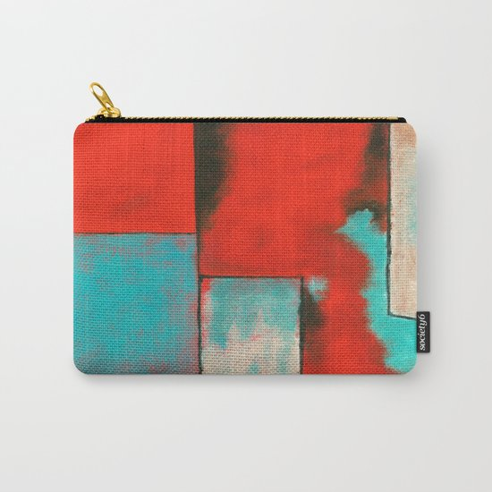 The Corners of My Mind, Abstract Art Painting Carry-All Pouch