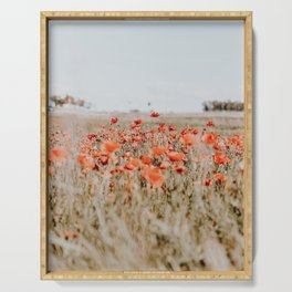 flower field Serving Tray