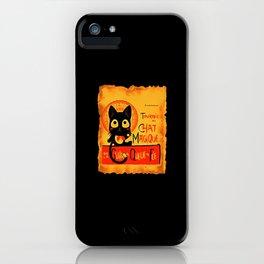 Chat Magique iPhone Case