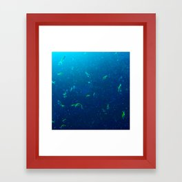 Tiny Yellow Fish Framed Art Print