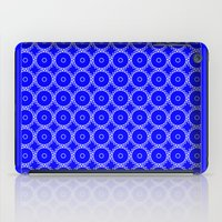 blueprint iPad Cases featuring Interlocking Cogs Pattern Blueprint by StuC42