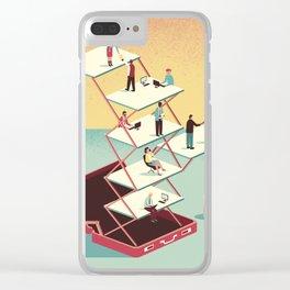 Work in a briefcase Clear iPhone Case