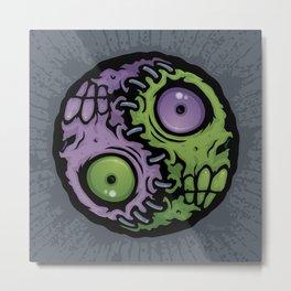 Zombie Yin-Yang Metal Print