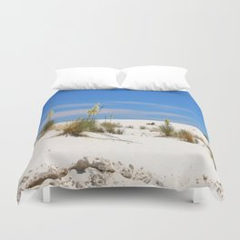 Soap Yucca At White Sand Duvet Cover