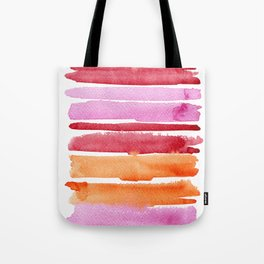 Summer stripes in pink and orange Tote Bag