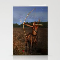 sagittarius Stationery Cards featuring Sagittarius by Viggart