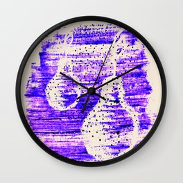 Pear. Abstract art. Brushstrokes Wall Clock