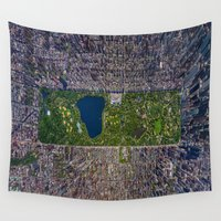 central park Wall Tapestries featuring New York Central Park by Rothko