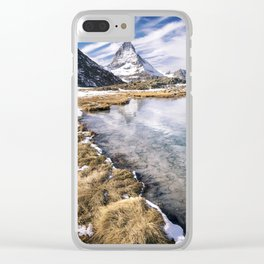 Icy Matterhorn Clear iPhone Case