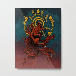 Kurama and Seal Metal Print