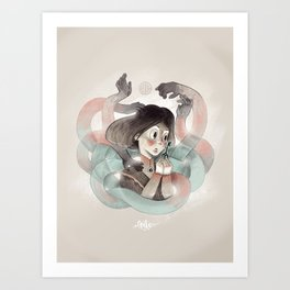 Ghost key Art Print