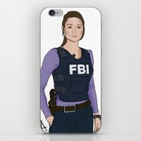 allison argent iPhone & iPod Skins featuring Special Agent Argent by Argent Arts