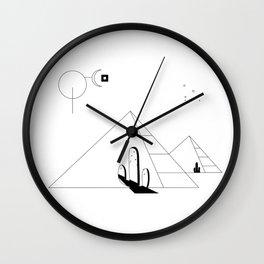 Desertscape (white) Wall Clock