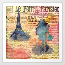 Shopping in Paris Art Print