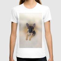 german shepherd T-shirts featuring German Shepherd by Judith Lee Folde Photography & Art