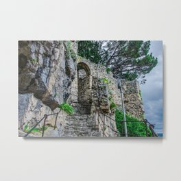 Stone stairs in rock Metal Print